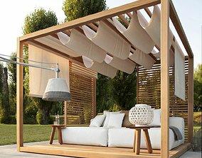 Landscape Seating Area 3D model