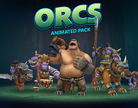 Orcs animated pack 3D asset
