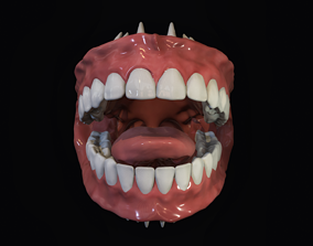 3D asset animated Teeth - Mouth for character