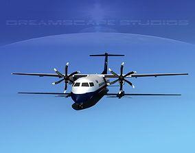 3D model Dehaviland DHC-8 400 Texair