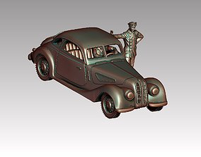 3D printable model cars and drivers