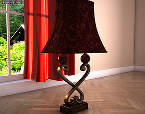 Ashley Key Town Table Lamp 3D asset