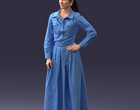 Woman in dress 1009 3D Print Ready