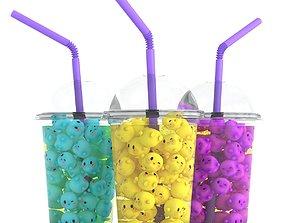 3D asset Kawaii Shake Cocktail Lemonade