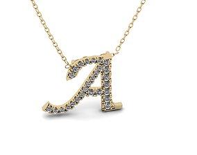 3D printable model Pendant Alphabet Letter A