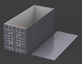 Printable 20ft Shipping Container with removable roof