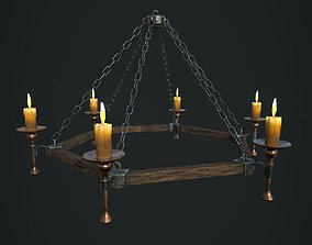 Chandelier with 3 textures and 2 LODs 3D asset