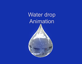 3D model animated Water drop animation