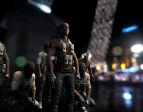 3D model Character military bandit