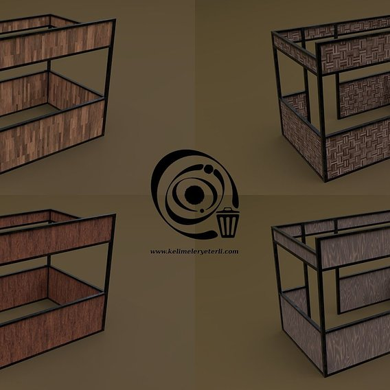 Stall stand 10 4in1 RR - 4 PBR Texture 1 Model