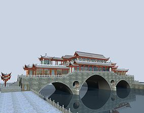China ancient birdge -- AnShun bridge day scene 3D Model