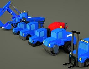Vehicle construction site toy - cartoon - 1 3D model