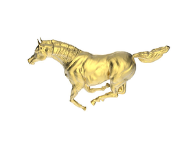 Arabic Horse in galloping position 8 3D printable model