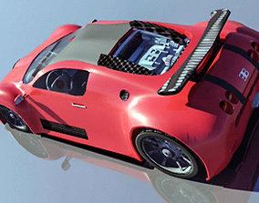 3D model animated Bugatti veyron
