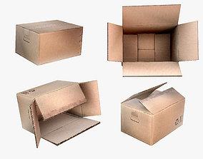 3D model Cardboard box set of package boxes industrial 2