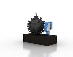 Coronavirus consequesnces 3D model