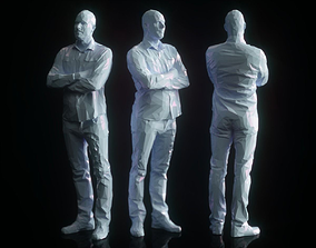 3D asset Crossing Arms Low Poly Man