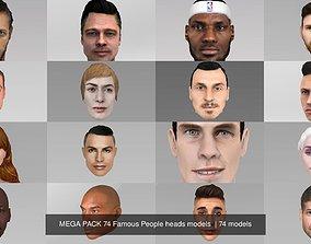 MEGA PACK 74 Famous People heads models 3D politcian