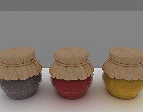 3D jar of jam