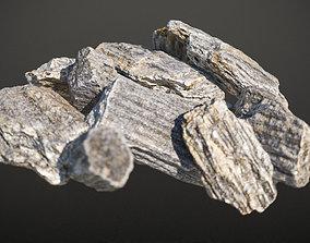 Gneiss seamless stone tile 3D model