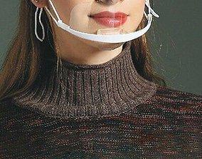 Transparent Plastic corona Face Mask 3D print model 2