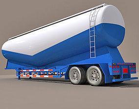 3D model Blue Bottom Tanker Trailer 06