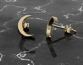 Jewelry Earring Crescent Shape 3D print model