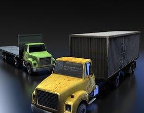 3D asset Truck Tractor
