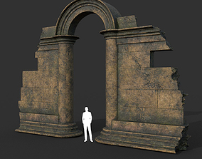 Low poly Ancient Roman Ruin Construction 04 - 3D model 1