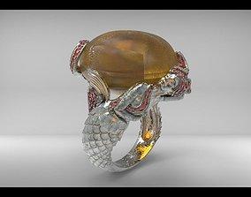 mermaid ring 2 3D printable model