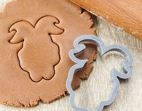 Goat 5 cookie cutter for professional 3D print model