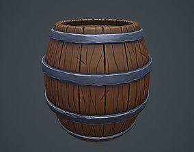3D asset Stylized Barrel - Game Ready