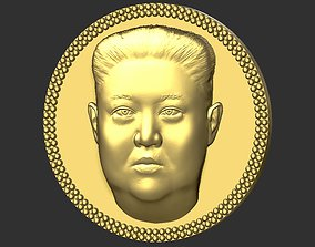 Kim Jong Un medallion pendant 3D printing ready stl obj