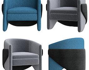Thea Chair West Elm 3D model