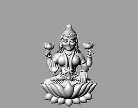 laxmi bhagwan with flower 3D print model