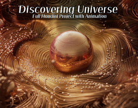 3D model animated Discovering New Universe