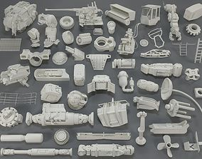3D Kit bash - 54 pieces - collection-17