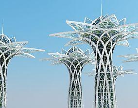 sci-fi 3D model Futuristic Skyscraper