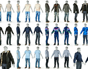 Collection 10 Casual Male Outfits V7 3D