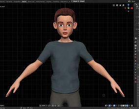 3D model Amy Boy Stylized Character No2 for Blender 2