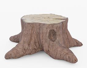 Tree Stump 3D asset low-poly
