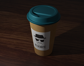 3D asset Coffee Cup To Go Heisenberg