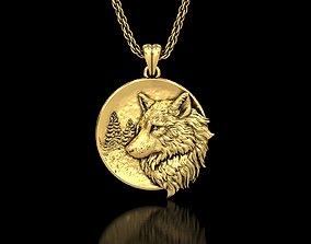 3D printable model The Wolf Medallion Pendant2