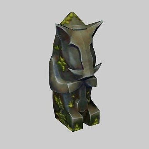 decor statue pig Low-poly 3D model