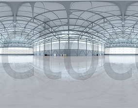3D HDRI - Airplane Hangar Interior 4
