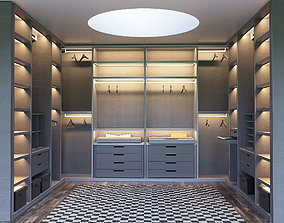 SENZAFINE walk-in closet from Poliform 3D