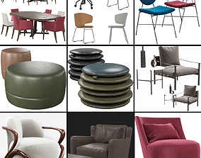 Chairs set 1 3D model