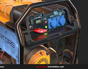 3D model Used Gas portable generator