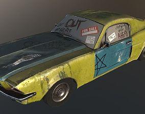 Forgotten Car 3D asset