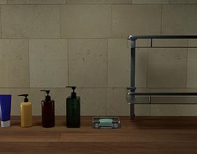 Bathroom Shower Item Set 01 3D